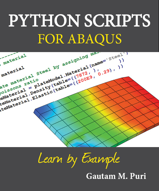 Python Scripts for Abaqus by Gautam Puri - Book Cover